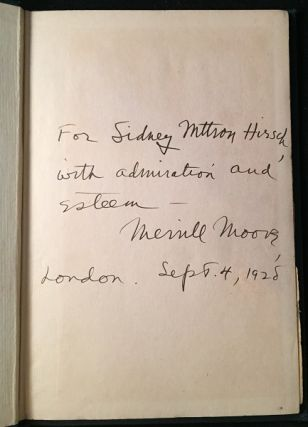 Chamber Music (Joyce's First Book - Signed Association Copy from Fugitive Poet Merrill Moore to Original Organizer of the Fugitive Poet Meetings, Sidney M. Hirsch). Southern Literature, Merrill MOORE, James JOYCE.