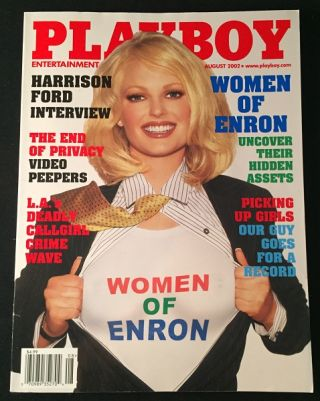 PLAYBOY Magazine August, 2002 (Harrison Ford Interview). Hugh HEFNER, Harrison FORD, et all