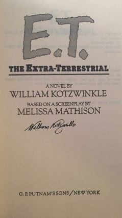 E.T. The Extra-Terrestrial (Signed by Author)