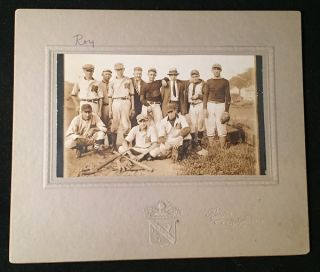 Circa 1930 Muncy, PA ORIGINAL LOCAL BASEBALL TEAM PHOTOGRAPH (Cabinet Card). Baseball, Unknown.
