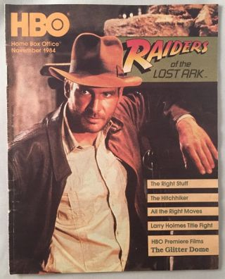 Original HBO November 1984 Program Guide (Indiana Jones Cover). 80's Curiosa, Harrison FORD.