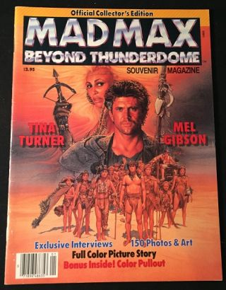 Mad Max Beyond Thunderdome Souvenir Magazine. Mel GIBSON, Tina TURNER, et all