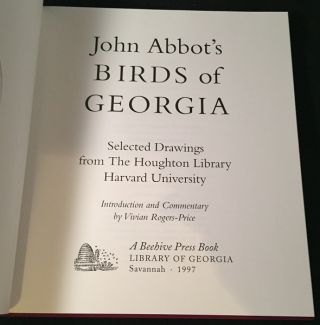 The Birds of Georgia (LIMITED EDITION IN SLIPCASE W/ ORIGINAL PROSPECTUS)